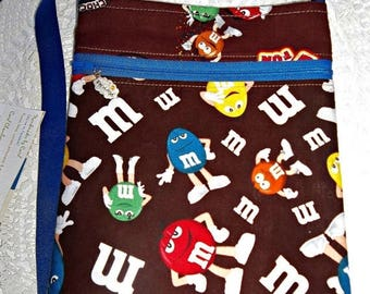 ON SALE Sling Messenger purse M Ms Candy multi zip pockets cross body zippered crossbody