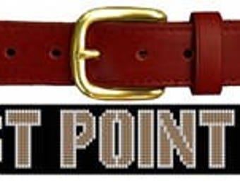USMA West Point Needlepoint Belt Canvas