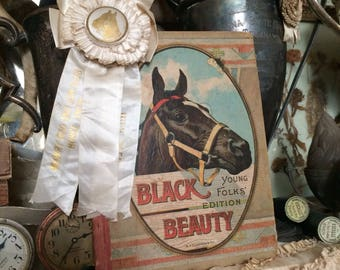 Black Beauty She Aged With Grace Antique Childrens Book