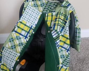Car seat Canopy John Deer carseat canopy / car seat cover / car seat tent / infant car seat / nursing cover LAST ONE