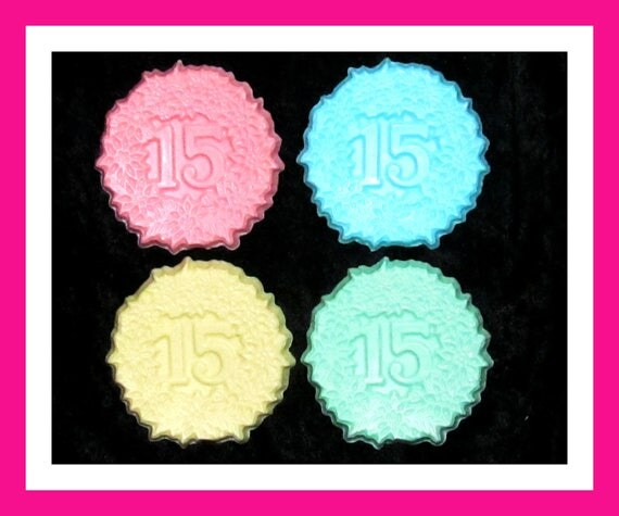 15th Birthday Party Soap Favors,15th Anniversary Favors, Quinceanera,Bulk Party Favors,Her Birthday Favors,His Birthday Favors,Set of 24