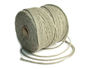 2.5 mm Linen Rope = 5 Spools = 550 Yards = 500 Meters of Natural Linen Twisted Cord - Decorative Rope