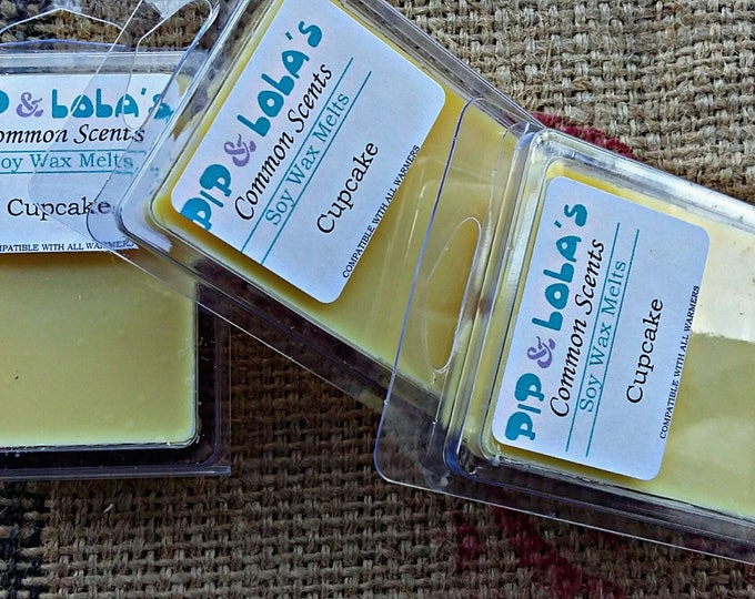 Cupcakes Wax Melt - Pip & Lola's Common Scents - Soy Candle Wax, Wax Tarts, Wax Melt, Soy Wax, Clamshell Melts, Candle melt, Wax warmer