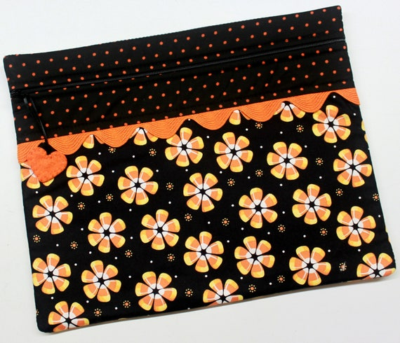 Candy Corn Flowers Cross Stitch Embroidery Project Bag