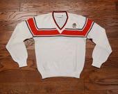 vintage 60s 70s Georgia Bulldogs sweater vintage Georgia University pullover v-neck Gepner Sportswear small S lightweight sweater