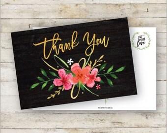 Thank You Postcard - Wedding, Bridal Showers, Birthdays, Gifts