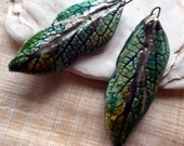 Ceramic Super Slim Leaf Earring Charms #34