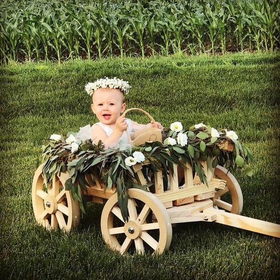 884 best Wedding Kids images on Pinterest |Flower Girl Wagon Wedding Party