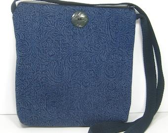 Soft Blue Denim, Messenger Bag