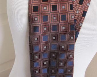 Bocara - Mens Black Bronze Silk Neck Tie Designer 4 x 60