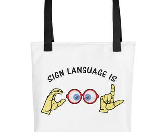Sign Language is Cool Tote bag