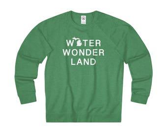 Water Wonderland Michigan Lightweight Pullover, Michigan sweatshirt, Michigan T-Shirt, Michigan Apparel, Michigan clothing, Michigan Gift