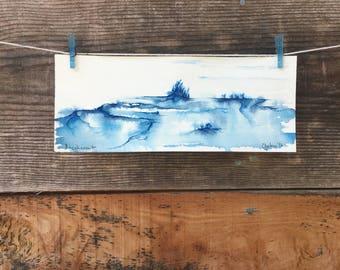 Incoherent - Original Watercolor - 3.9in x 9.8in