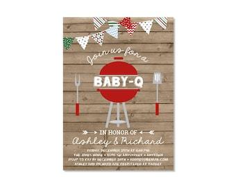 Christmas BBQ Baby Shower Invitation