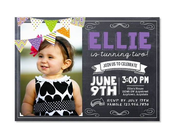 Featured listing image: Halloween Birthday Invitation with photo