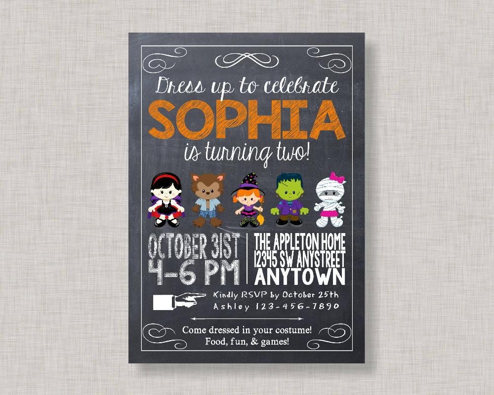 Halloween Birthday Invitation Halloween Birthday Party
