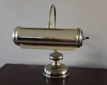 Vintage Roll Desk Light, Piano Light, Desk Lamp, Brass Light, Sheet Music Light