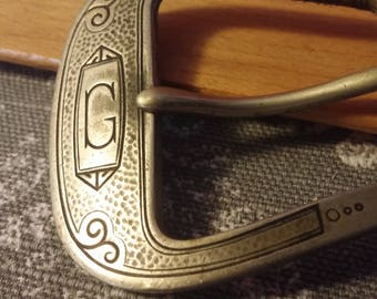 Silverplate Belt Buckle G Monogram