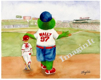 Boston Red Sox Print - 8x10/5x7 - Wally