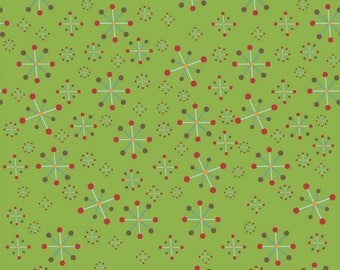 Hooty Hoot Fabric by Doohikey Designs for Riley Blake Fabric, C3014 Green Jacks