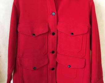 Vintage Filson wool criuser hunting jacket USA womens 14
