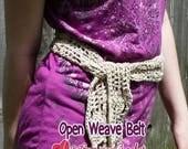 Open Weave Belt Crochet Pattern