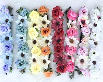 Bachelorette Flower Headbands   Floral headbands for bride   Floral crowns