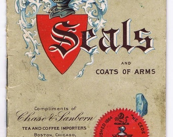 Seals Coats of Arms Antique Vintage Chase Sanborn 1902 Advertising Booklet Chromos Coffee Tea Ephemera