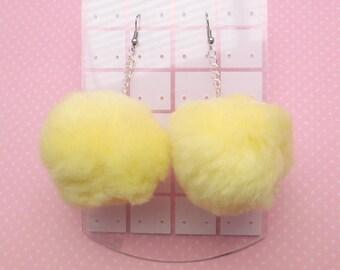 PomPom Earrings (lemon)