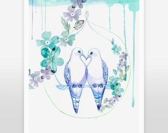 ART PRINT/ Lovey-Dovey