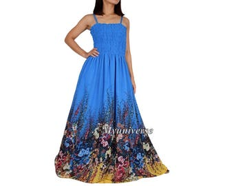Summer Dress Party Dress Maxi Dress Full Length Long Sundress Plus Size Dresses Clothing Chiffon Haiwaiian 1X 2X 3X Wedding Guest Dress Blue