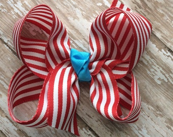 CLEARANCE M2m made to match Eleanor Rose School Surprise Red Riding Hood girls single hair bow