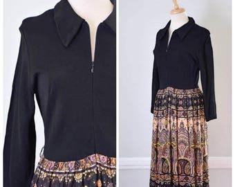 ON SALE Vintage 60s/70s Hostess Maxi Dress