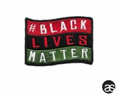Pan-African Black Lives Matter Flag Iron-on Patch
