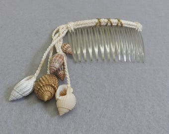Rope and Sea Shell Vintage Hair Comb