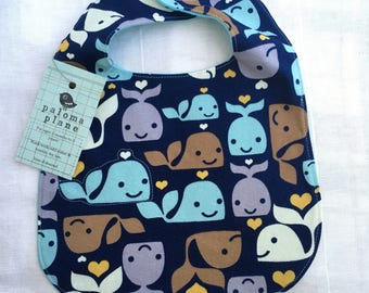 Bib for Baby and Toddler- WHALES
