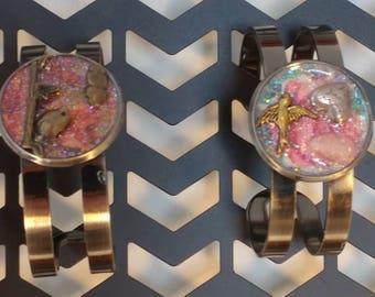 Birds & Hearts Adjustable Cuff Bracelet