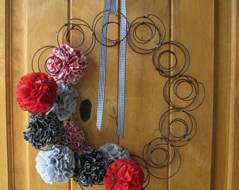 Bedspring Wreath: Red, White & Blue