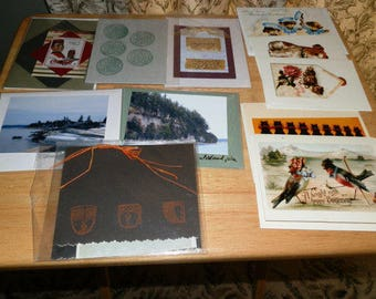 Lot of 12 Hand Made Blank Cards