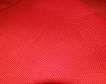 Red Corduroy Fabric 1/2 yard
