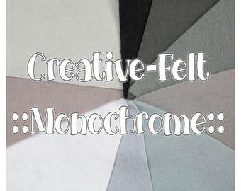 Monochrome Creative-Felt, Wool Blend Felt, EN71 Certified for dolls and toys