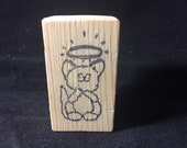 Angel Kitty Rubber Stamp Used