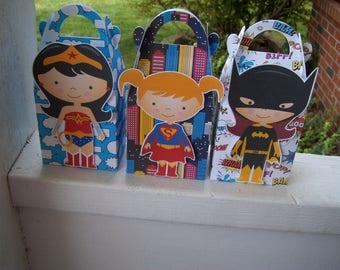 For the Girls Superhero Gable Boxes Set of 24