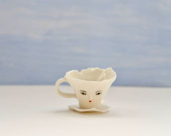 Mini Ballerina paper porcelain cup -  Collectible