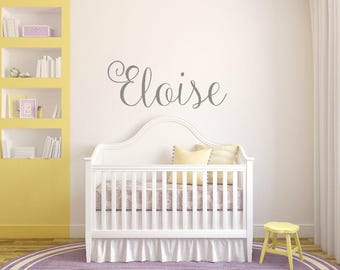 Nursery Name Sign, Nursery Wall Art, Baby Shower Gift, Baby Girl Nursery Decor, Wall Decal, Girl Bedroom Decorations, Baby Girl Outfit