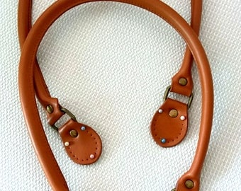Camel brown | 25 inches leather handles | Purse handles | bag handles | shoulder bag handles | leather handles | tote bag handles