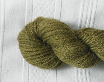 Olive worsted-weight wool yarn