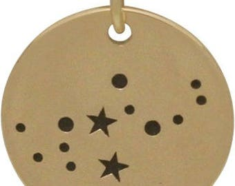 Virgo Constellation Charm, Bronze -18mm