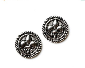 Limited Time Offer Fleur de Lis Cufflinks - Gifts for Men - Anniversary Gift - Handmade - Gift Box Included