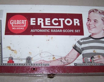 This is a vintage 1960's Gilbert No. 10042 Automatic Radar-Scope Erector Set